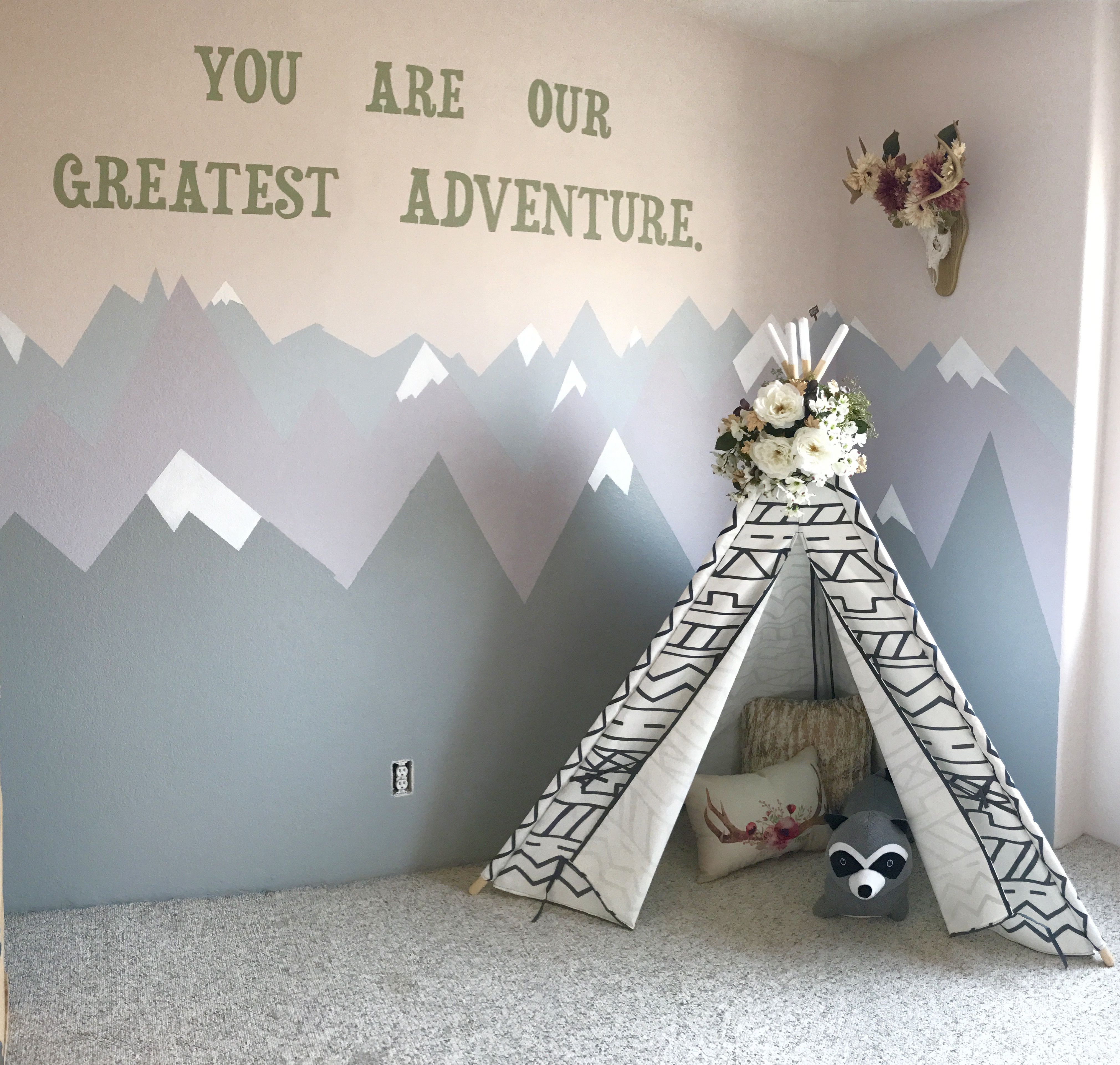 Bedroom Athletics Katy Bedroom Paint Ideas With White Furniture Bedroom Apartment Decorating Ideas Bedroom Ideas Quotes: Tribal Woodland Playroom For Our Little One. #playroom
