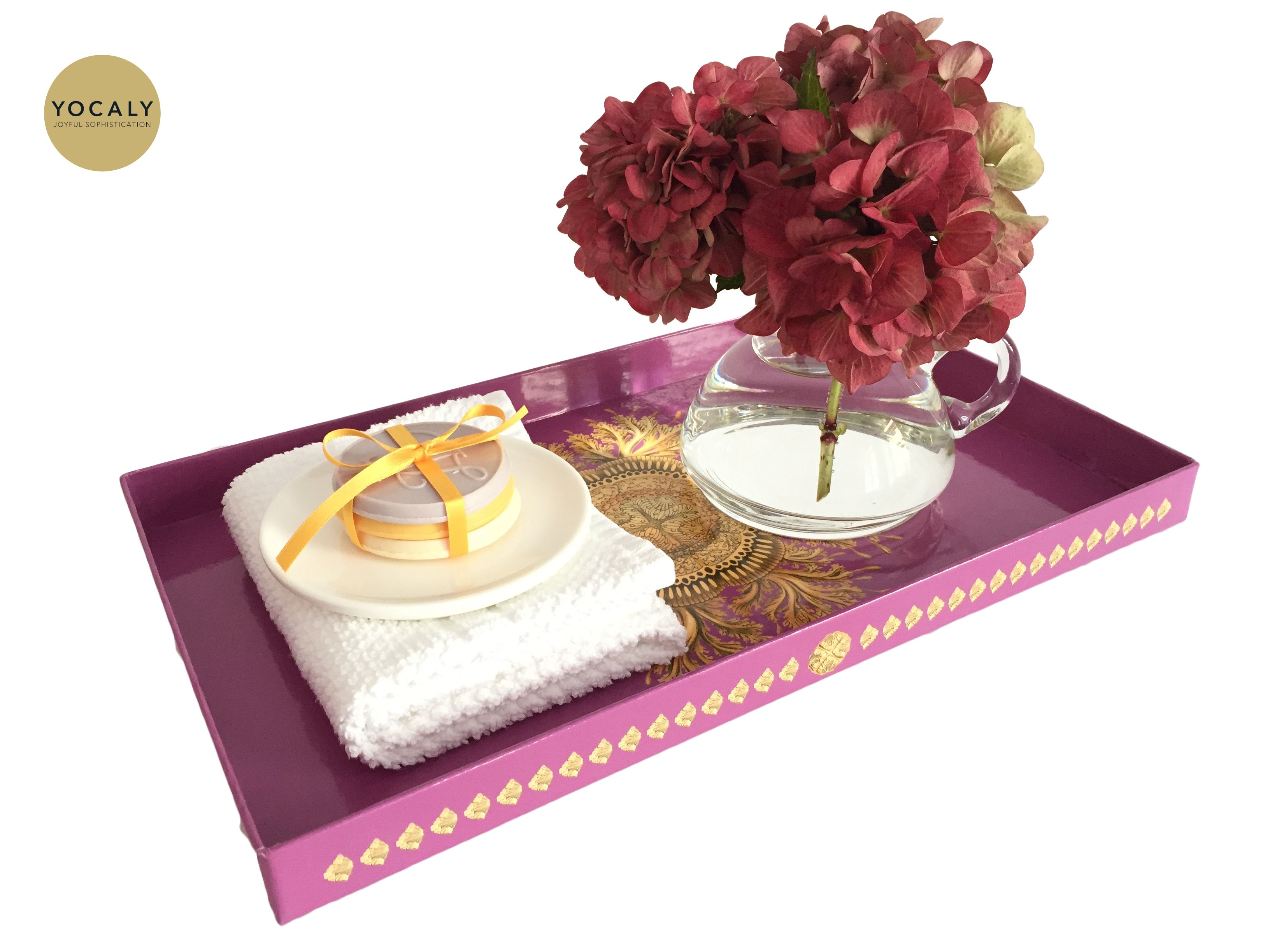 Decorative Tray Extraordinary Pink Decorative Tray  Decorative Trays Trays And Bathroom Shop Decorating Inspiration