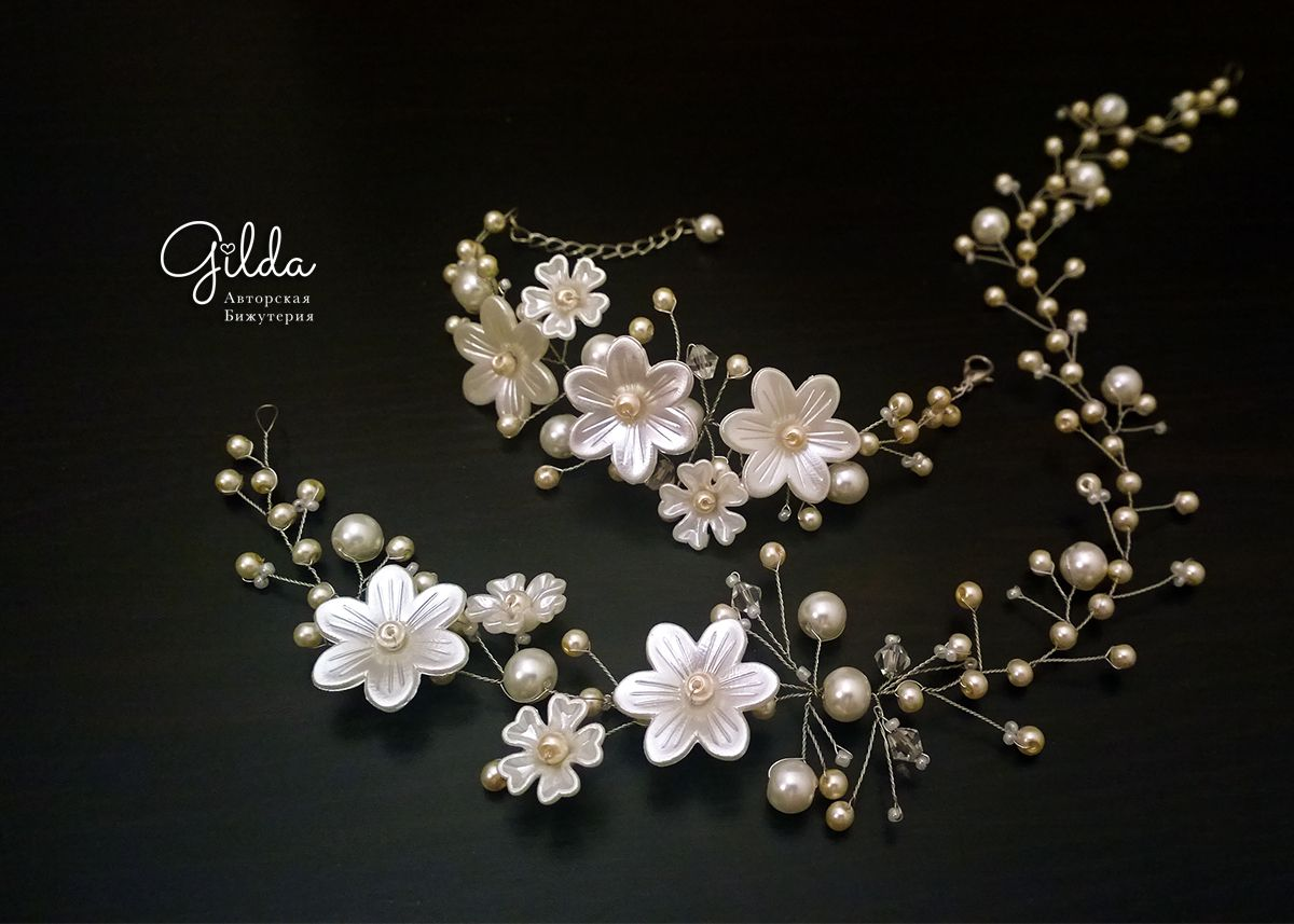 We wedding headpiece jewellery - Today I Will Show You How To Make A Diy Bridal Bracelet From Flowers And Pearls This Handmade Wedding Bracelet Will Decorate Your Wedding Dress