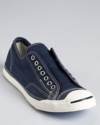 1ed981474013 Converse Jack Purcell LP Slip-On Sneakers in Navy