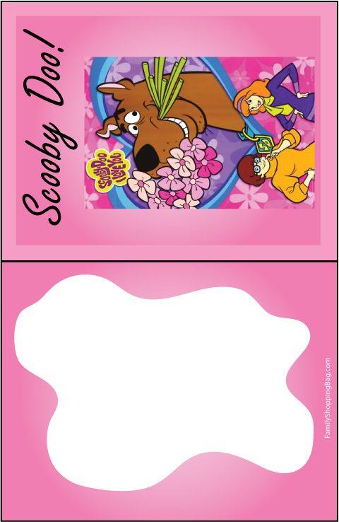 Scooby Girl Invitation Printables Pinterest Scooby Doo