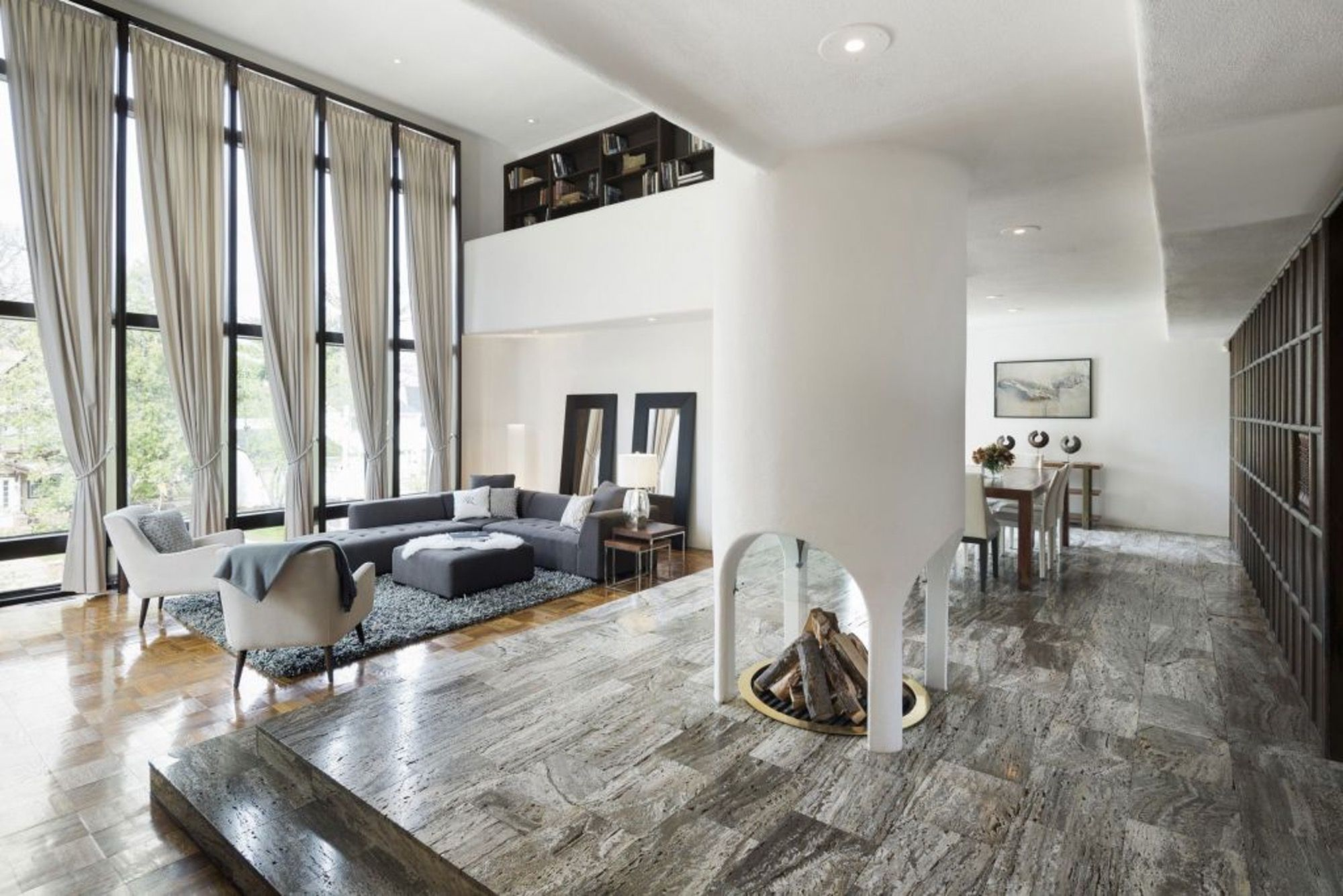 The Living Room Has 18 Foot Ceilings