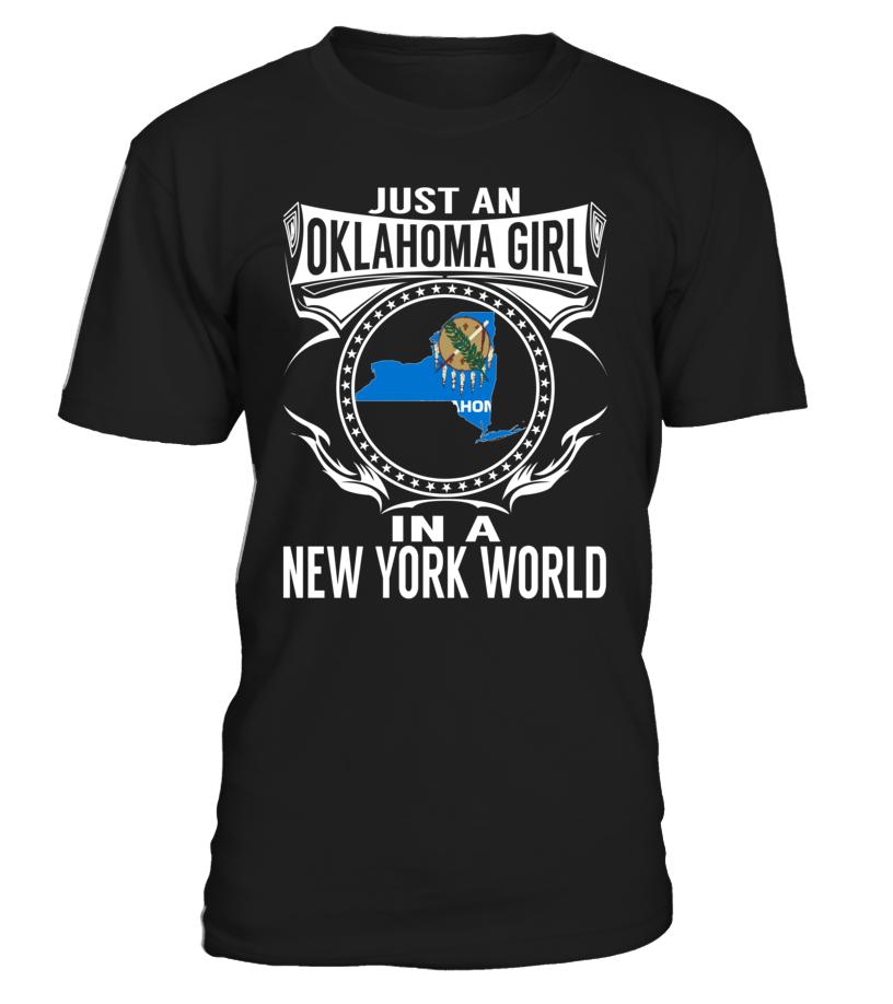 Oklahoma Girl in a New York World State T-Shirt #OklahomaGirl