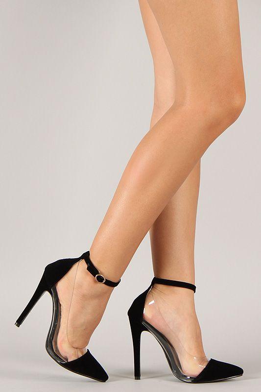 6c08d414d77 Liliana Olga-1 Velvet Pointy Toe Ankle Strap Pump