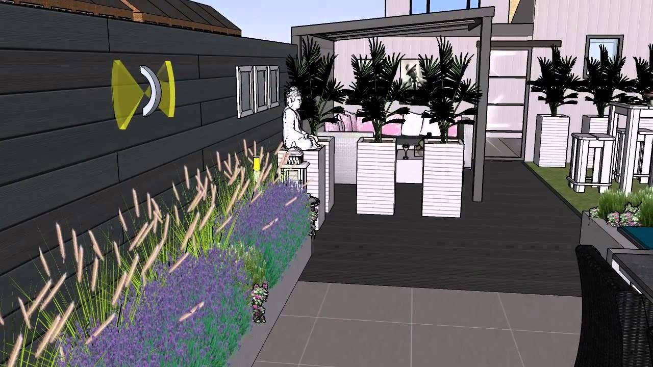 Tuinontwerp moderne lounge tuin een ontwerp voor een kleine