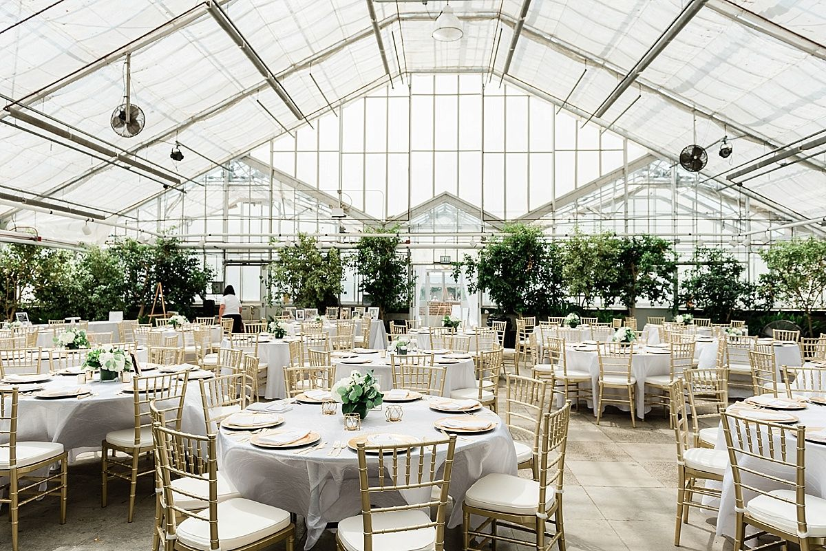 A Summer Wedding At The Michigan State University Horticulture