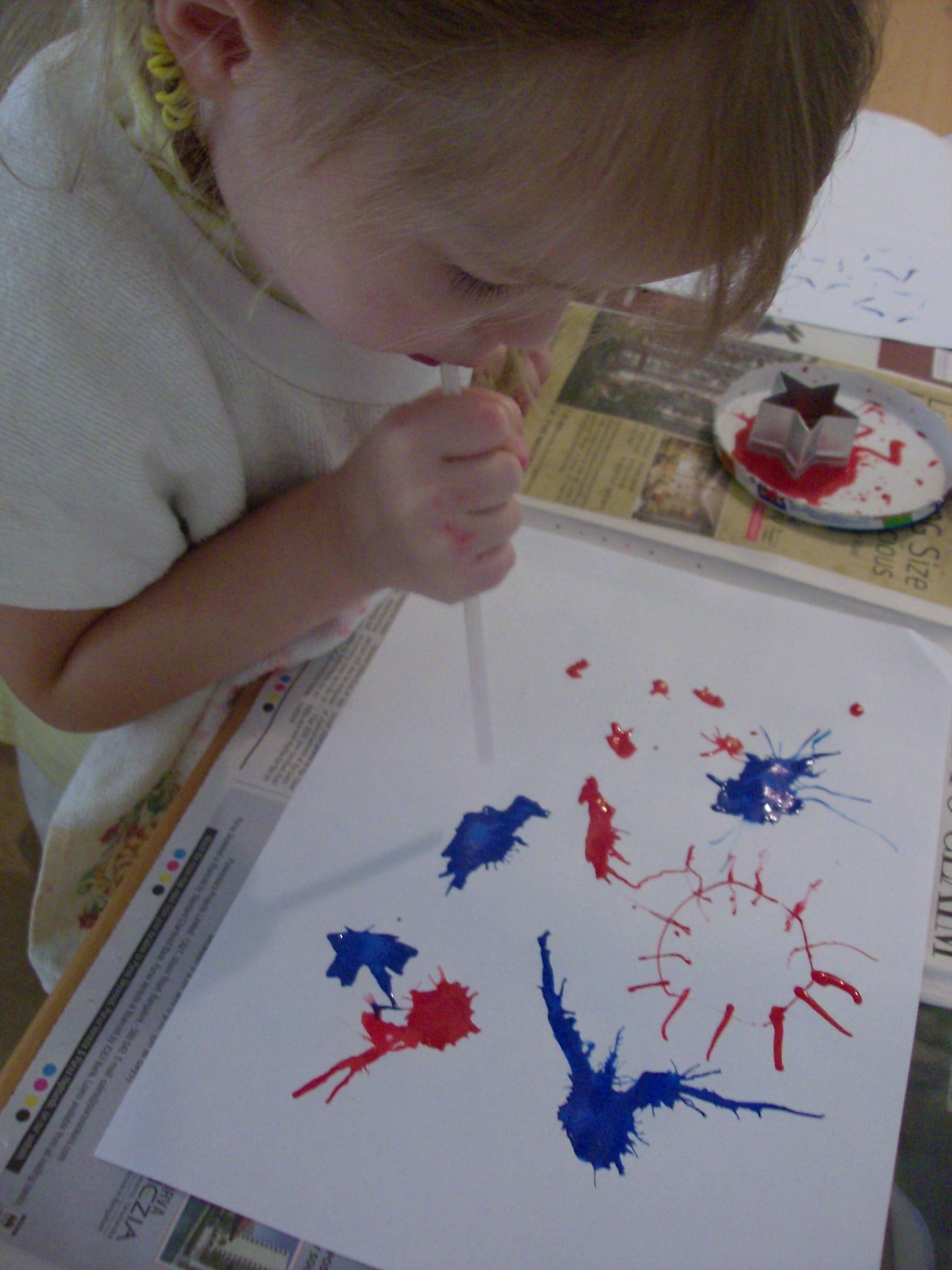 4th Of July Craft Paint Fireworks