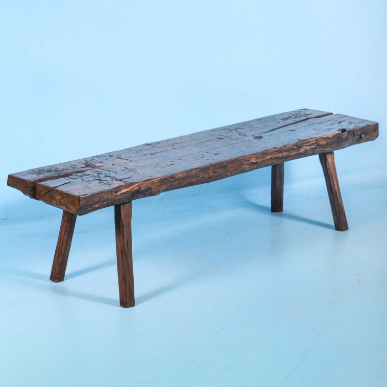 Rustic Narrow Reclaimed Wood Coffee Table Design Picture