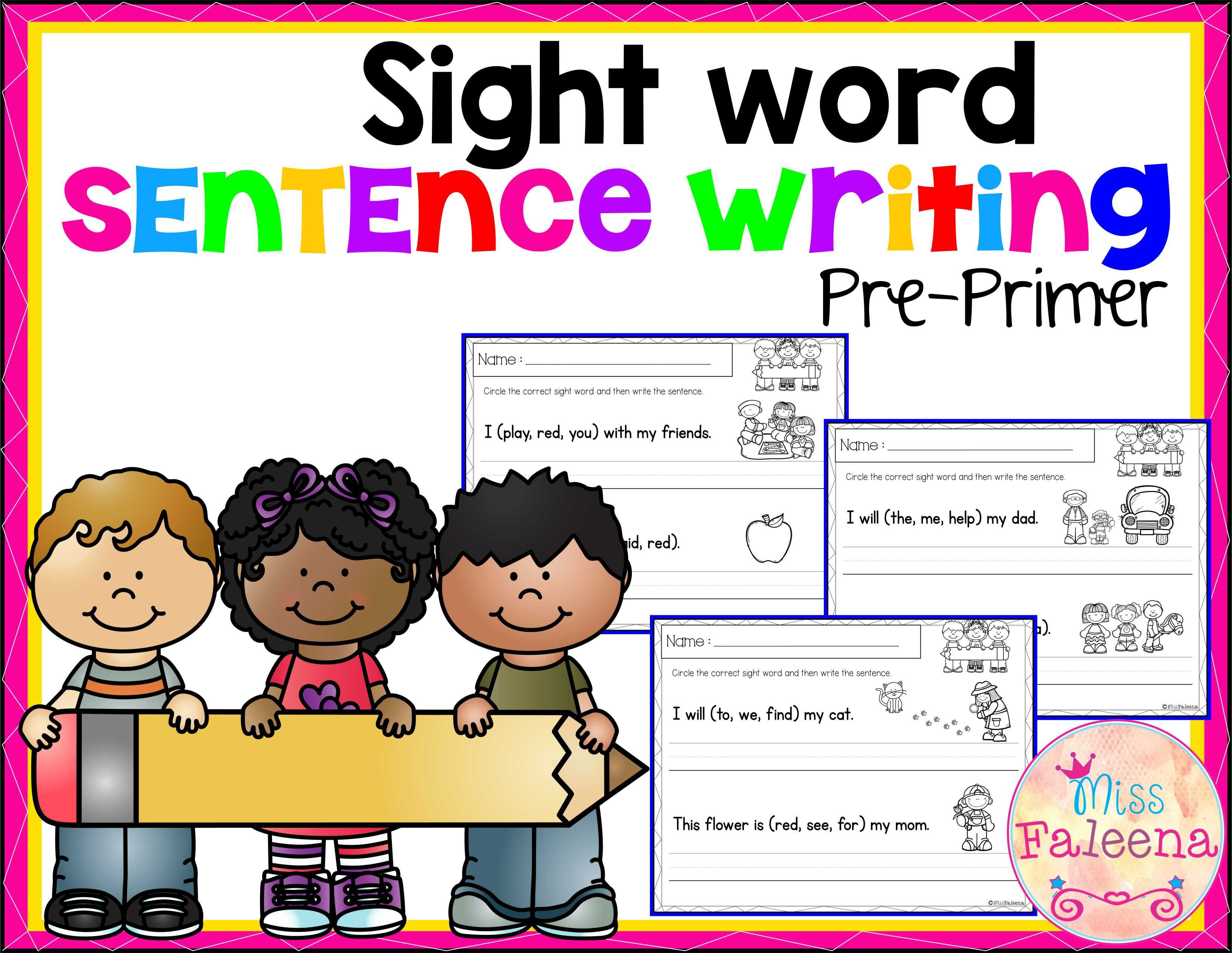 Sight Word Sentence Writing Pre Primer
