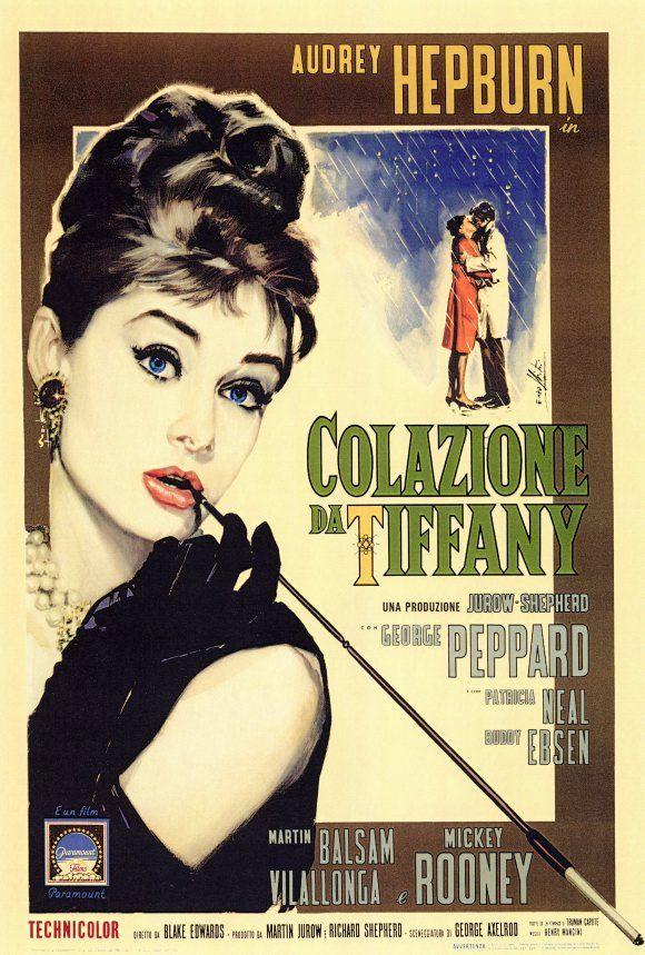 Breakfast at Tiffany\'s Poster 27x40 Italian Holly Audrey RARE ...