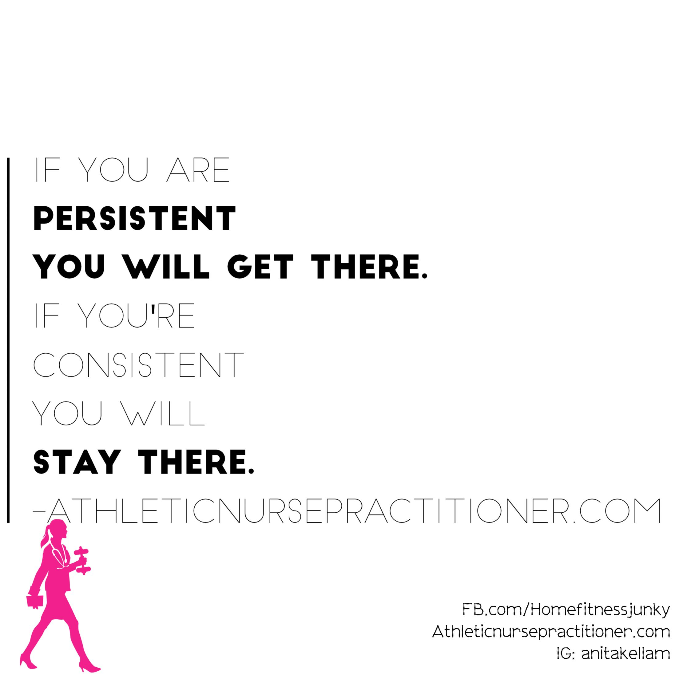 Happy motivation Monday . It's a new week in the beginning of a new month. There's no better time to get moving and make a positive change in your life.  Persistence will get you there but consistent effort will keep you there.   What are your goals for the week?