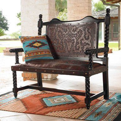 Spanish Colonial Settee | King Ranch