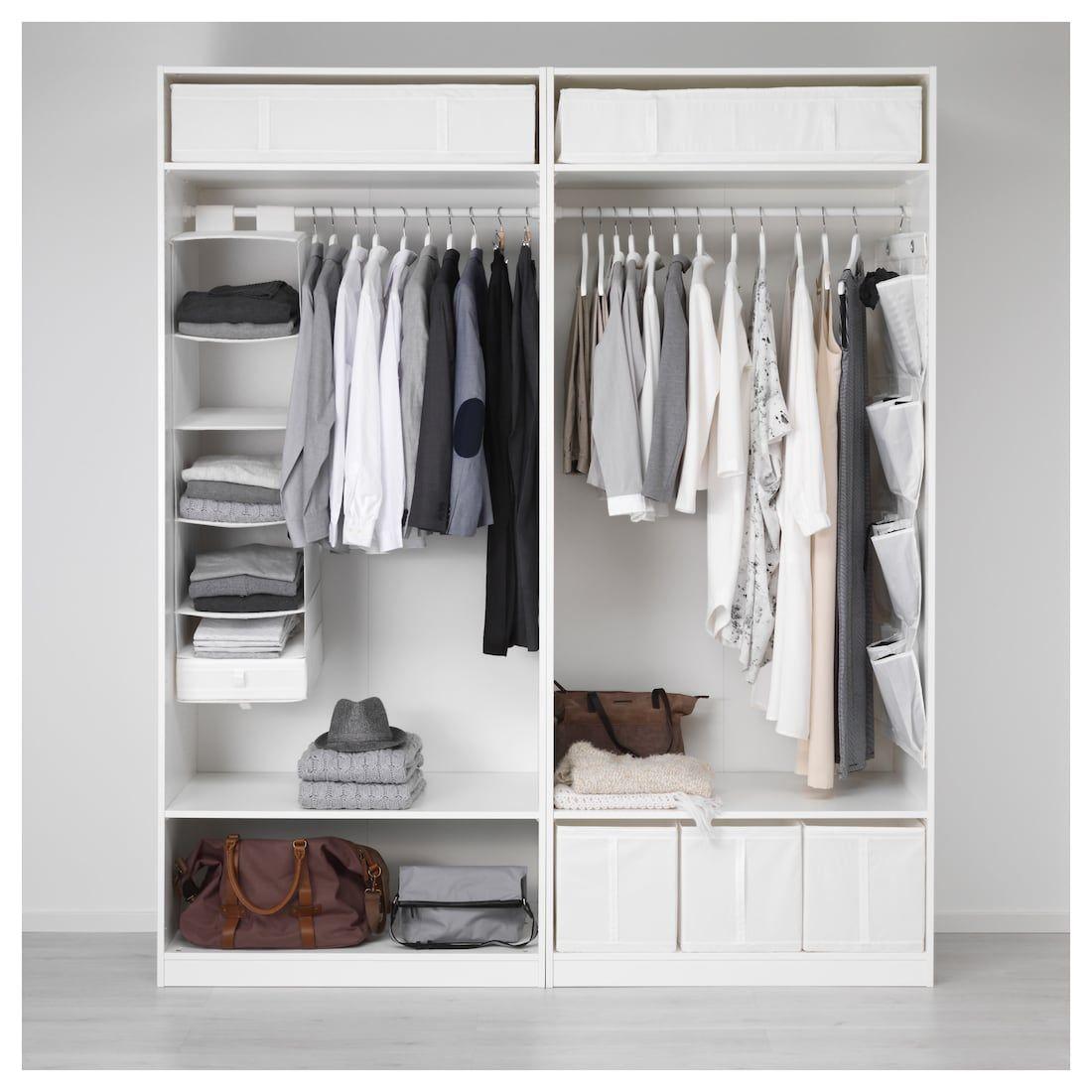 PAX Wardrobe white, Hasvik white in 2020 Pax wardrobe