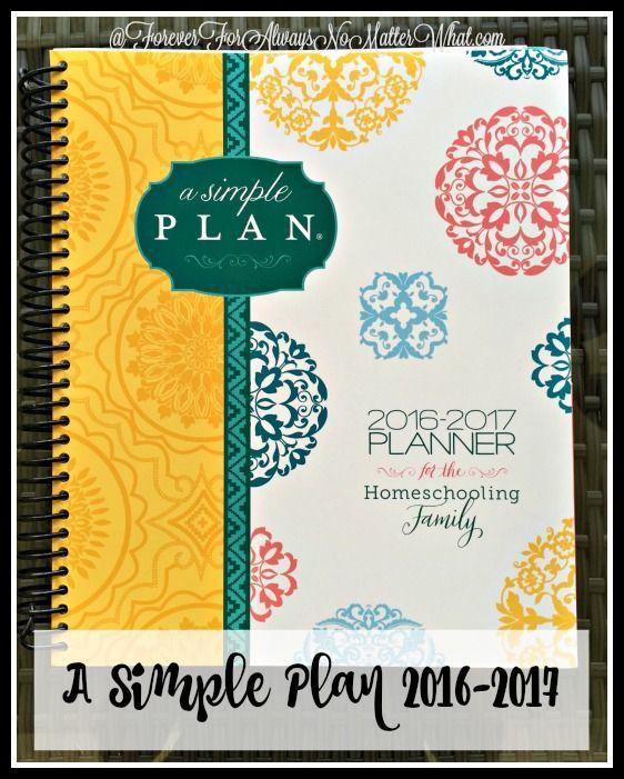 a simple plan homeschool planner 2016 2017 parenting hacks