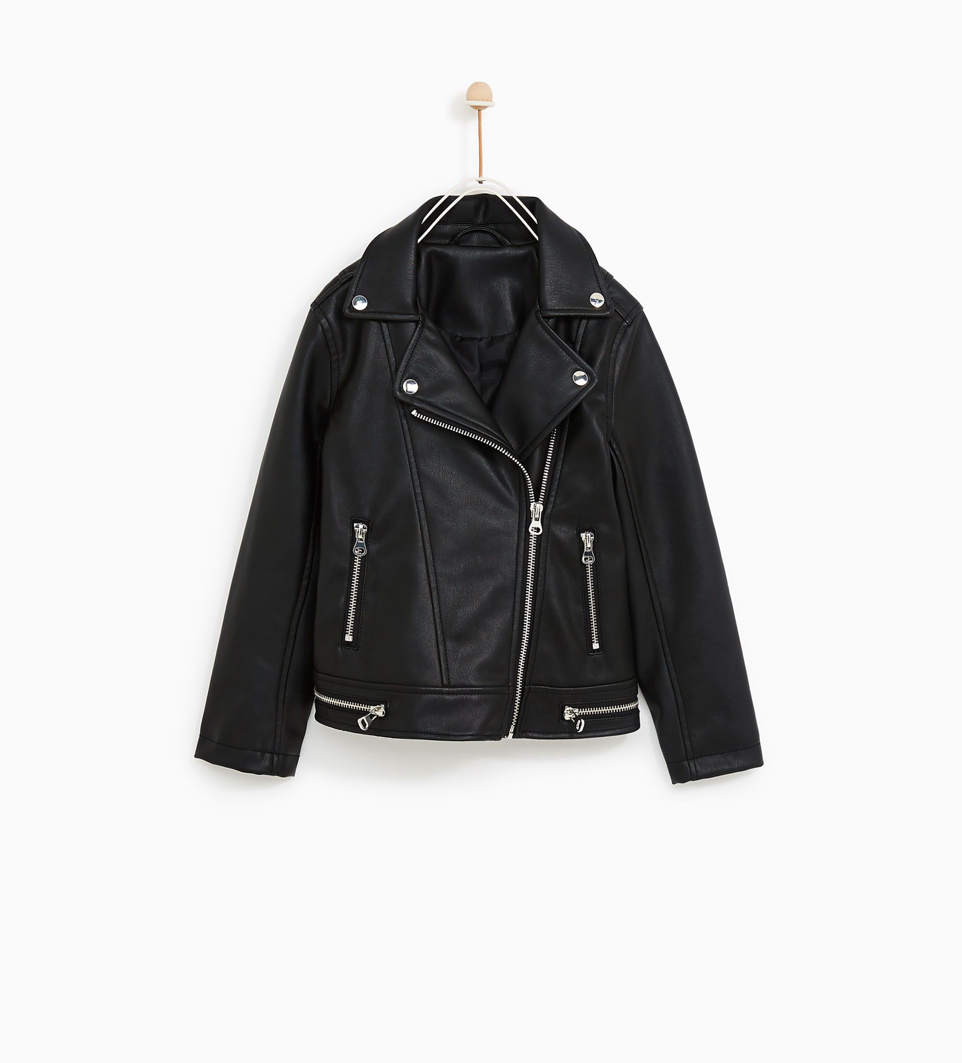 Image 4 of FAUX LEATHER BIKER JACKET from Zara (With