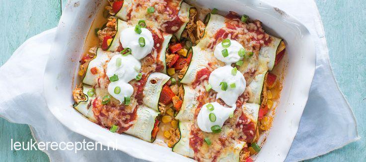 Enchilada's van courgette