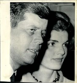 1960.  Kennedys:  Mr. and Mrs. Kennedy