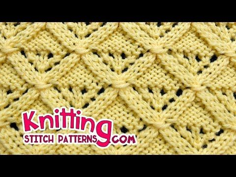Diamond Lattice | Lace Knitting #25 - Kannattaa käydä katsomassa tubettajan soittolista ja videot - Paljon neulemalleja https://www.youtube.com/user/knittingunlimited/playlists