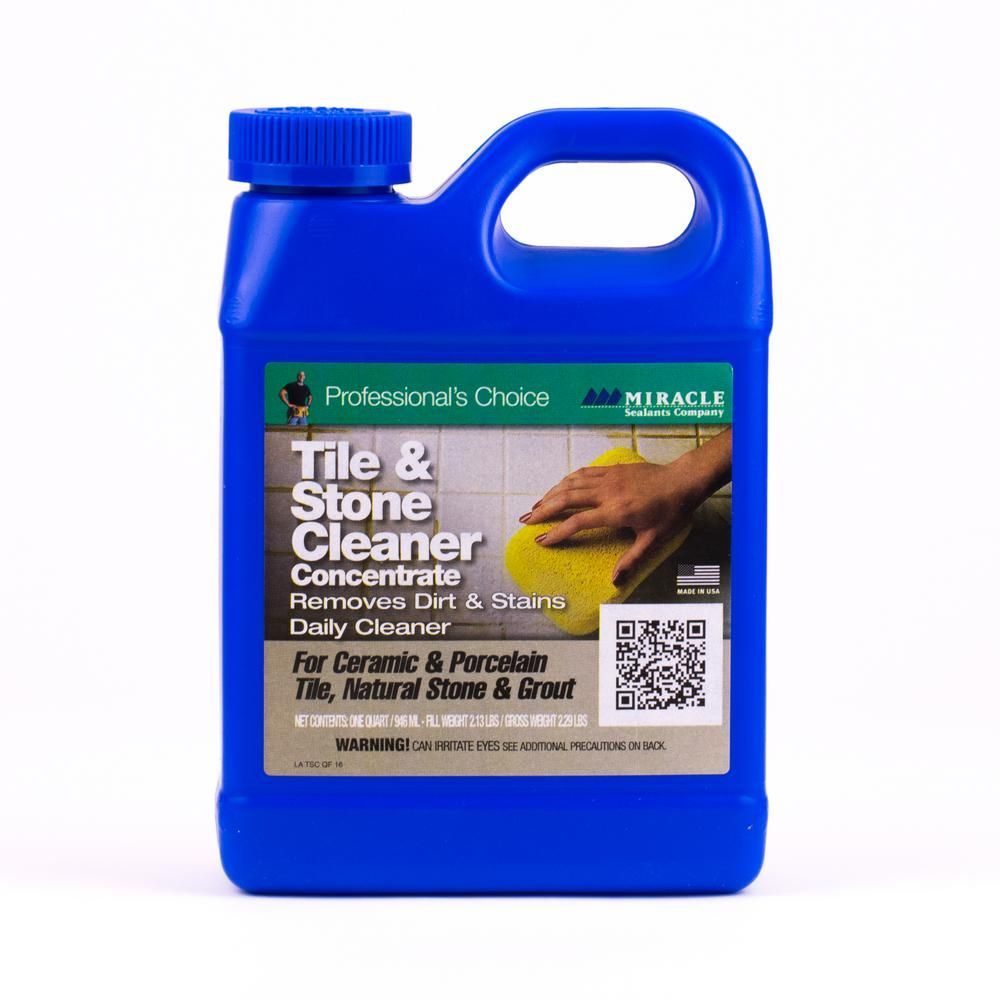Miracle Sealants 32 Oz Tile And Stone Cleaner Tsc Qt H The Home Depot Tile Cleaners Sealant Cleaners
