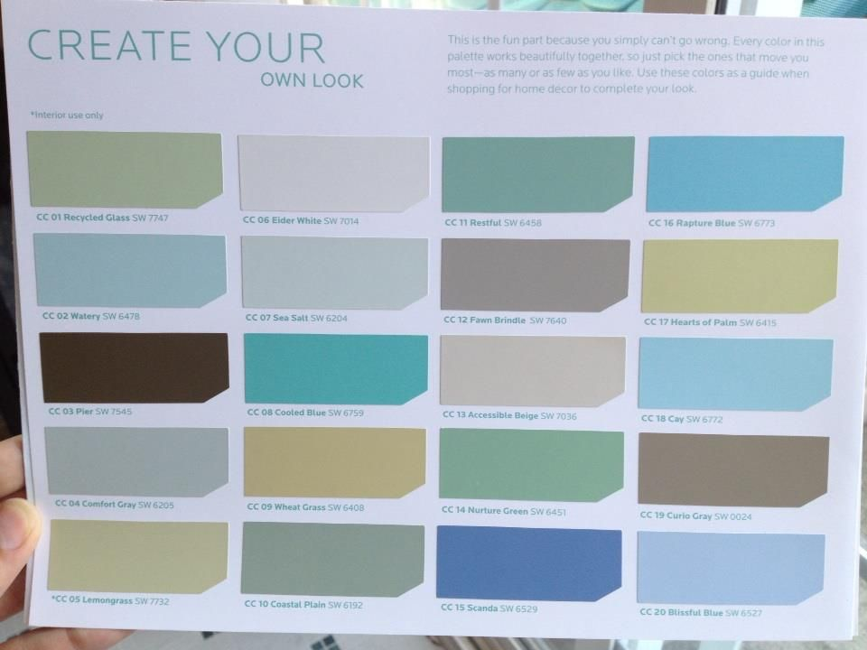 Thank You Sherwin Williams Coastal Cool Collection With Images