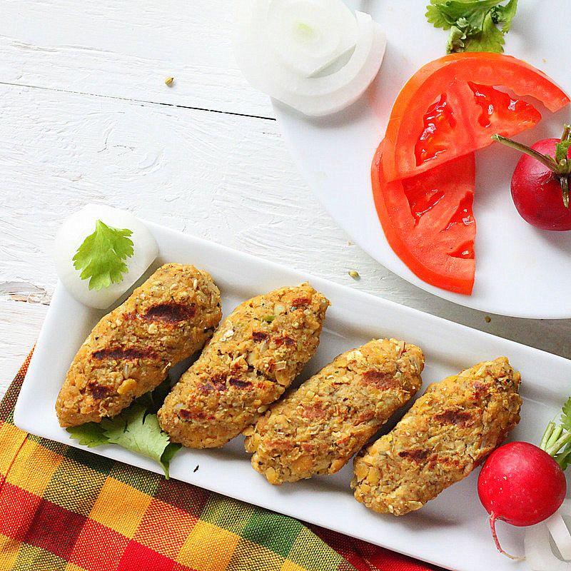 Tempeh Seekh Kebab. Vegan, Glutenfree Vegan Richa