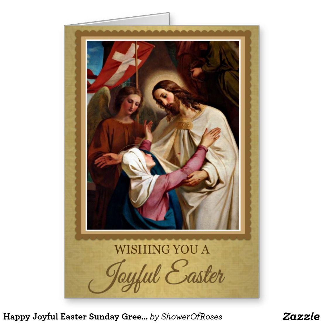 207 Happy Joyful Easter Sunday Greeting Card Sunday Greetings