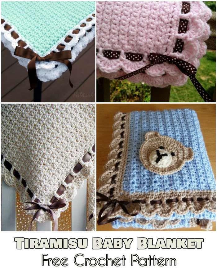 Tiramisu Baby Blanket - Free Crochet Pattern | Cobija y Bebe