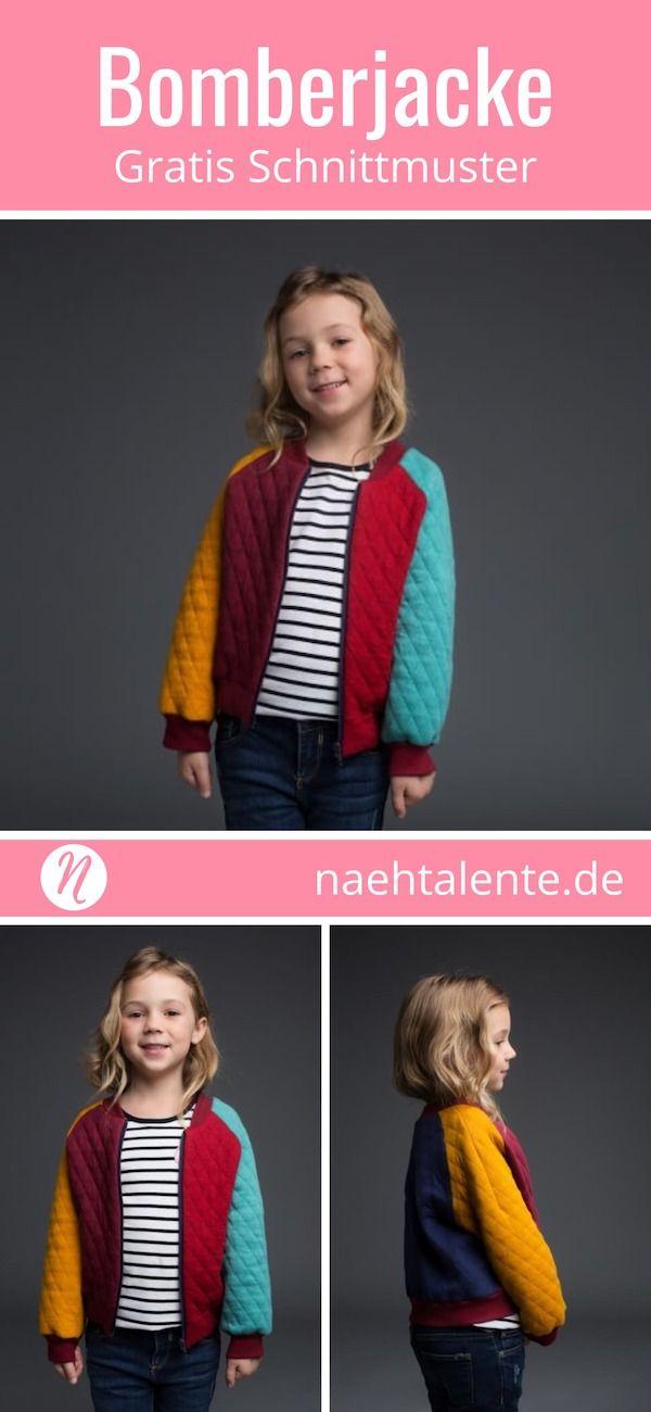 Bomberjacke für Kinder | kostenlos schnittmuster | Pinterest | Nähen ...