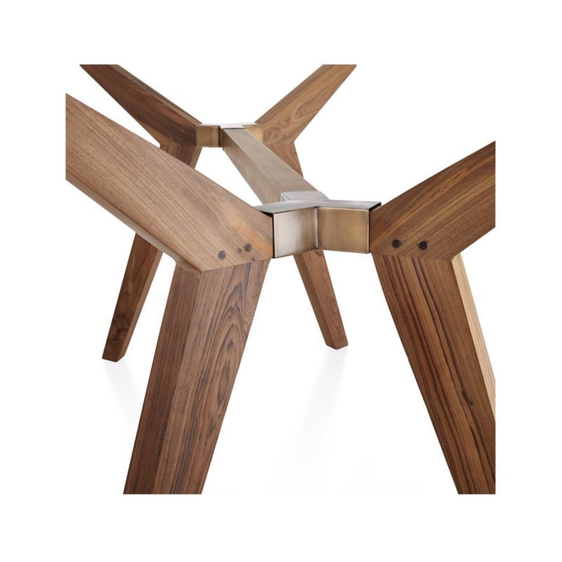 Designed to seat 6 to 8 diners. Strut Teak Table + Reviews   Crate and Barrel in 2020 ...