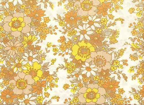 70 S Yellow Brown Flower Pattern Textile Vintage Floral Wallpapers Vintage Floral Pattern Textile Patterns