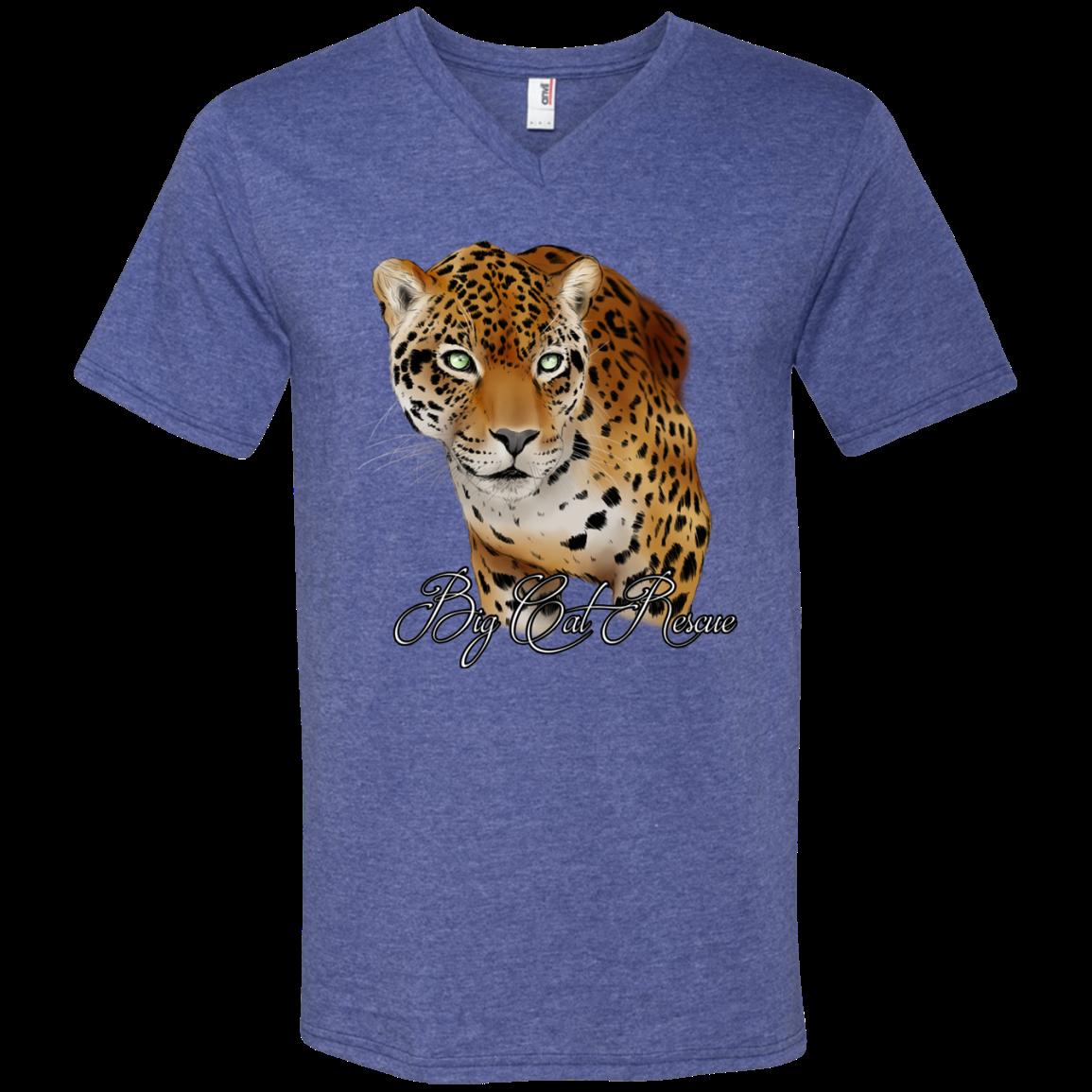 Manny Jaguar Color 982 Anvil Men's Printed VNeck TShirt