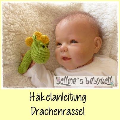 Häkelanleitungen - Drachenrassel - ein Designerstück von Bettinas-Babywelt-DIY bei DaWanda