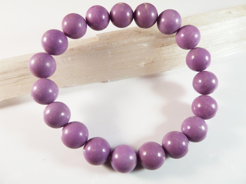 "Fashion opal handmade 12mm round beads elastic bracelet 7.5/"""