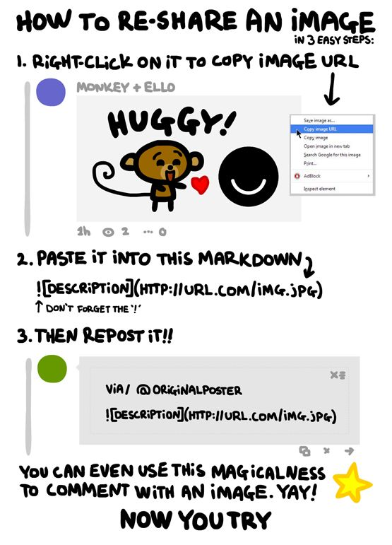 How to comment with an image on #Ello. #socialmedia