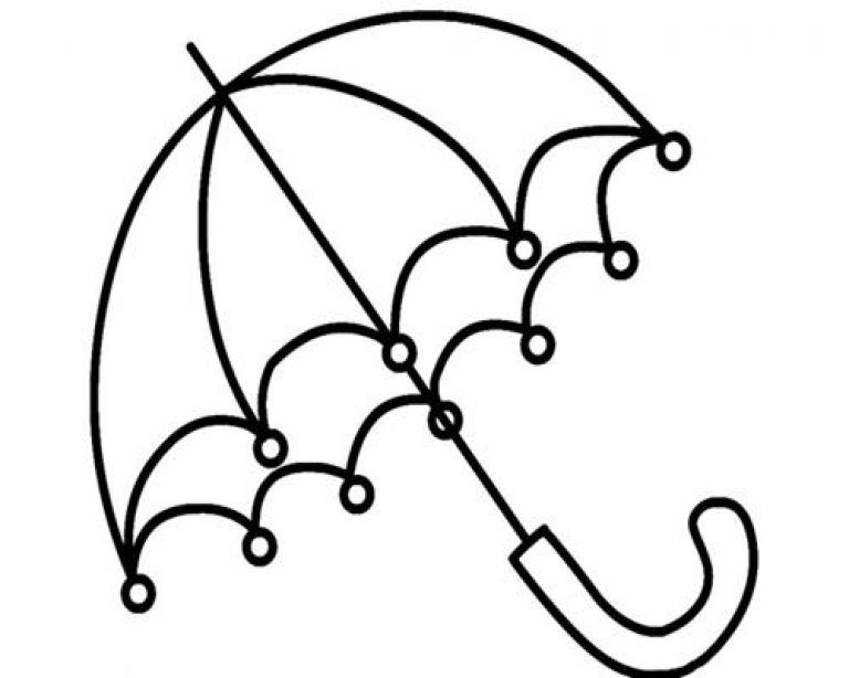 Kumpulan Gambar Untuk Mewarnai Anak Paud Warna Payung Gambar