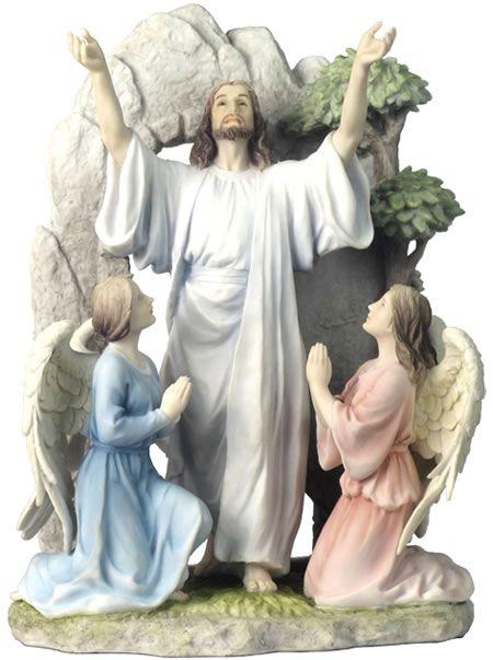 Resurrection Of Jesus Religious Figurine Statue Sculpture