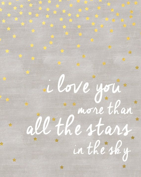 we love you more than all the stars in the sky nursery wall art