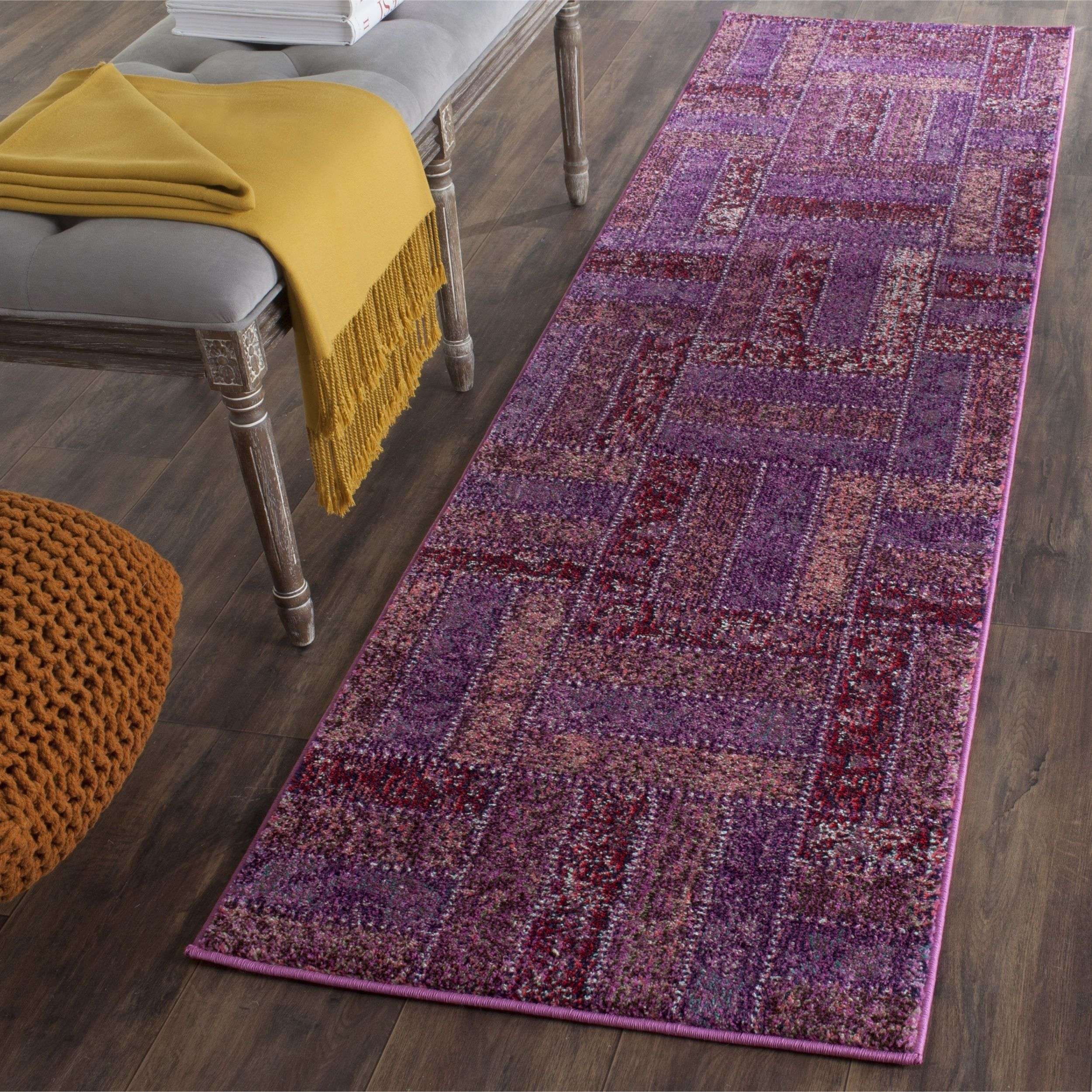 Safavieh Monaco Myrthe Boho Rug Purple Area Rugs White Area Rug