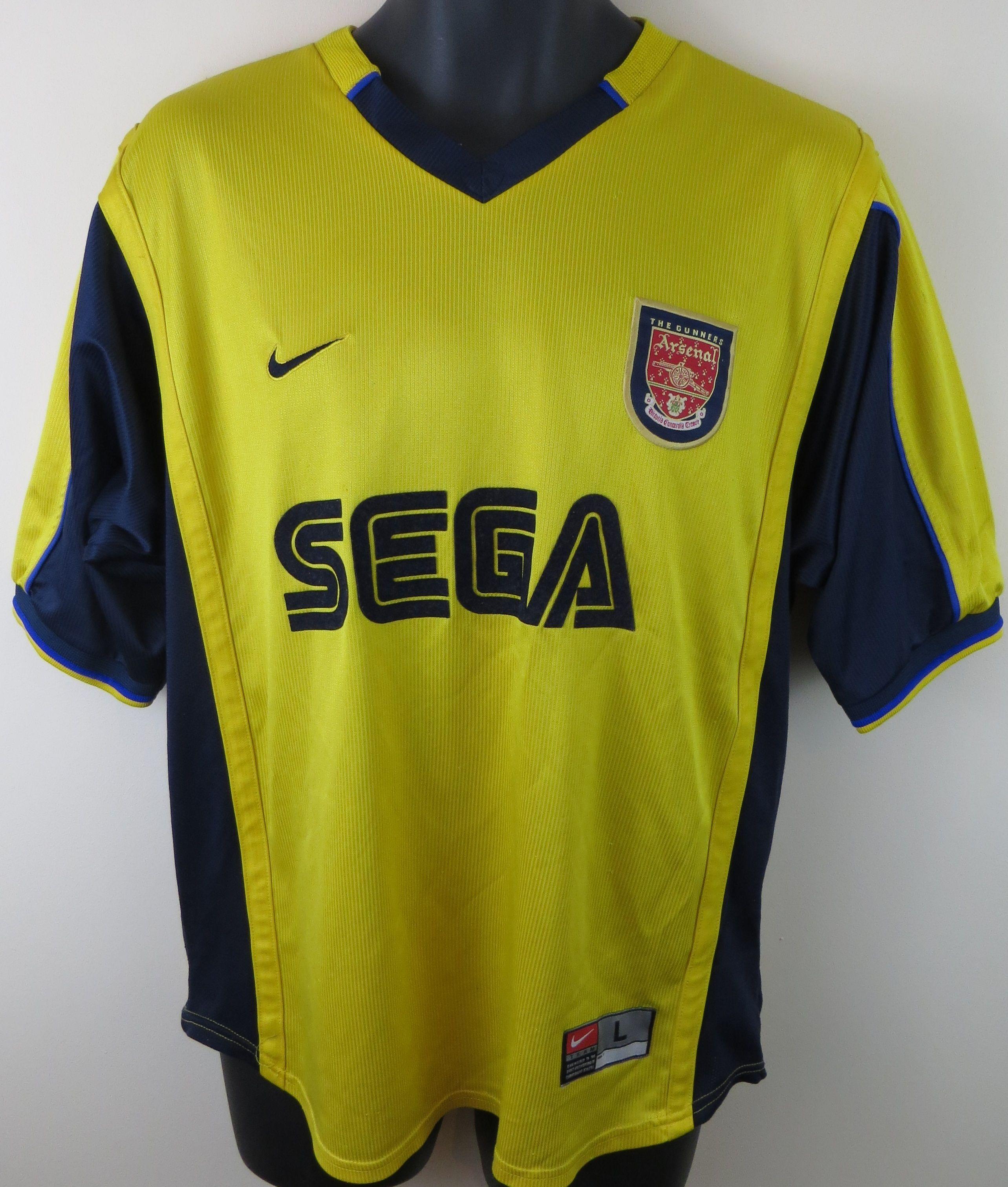 wholesale dealer e643f 52d44 Arsenal away SEGA shirt by Nike | Retro Football Shirts ...