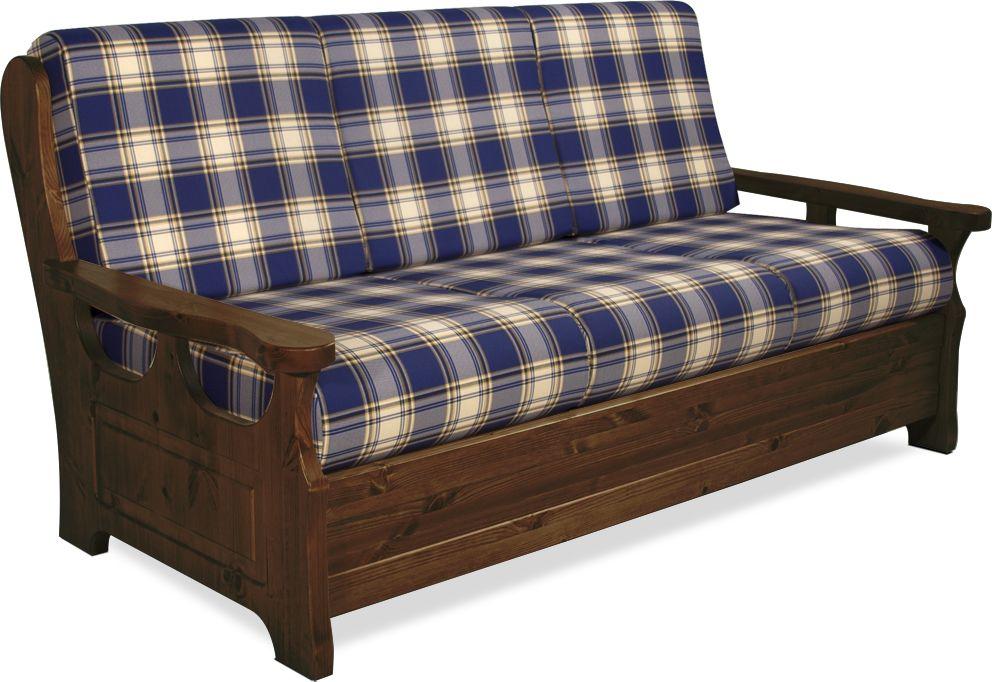 Divano 3 posti in legno massiccio di pino di svezia - Divano letto pino ...