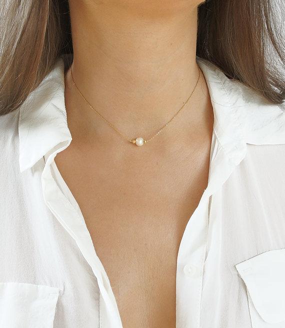 e55356a3ef84 Dama de honor collar de perlas