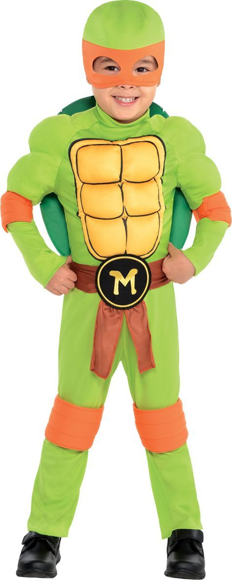 Toddler Boys Michelangelo Muscle Costume - Teenage Mutant