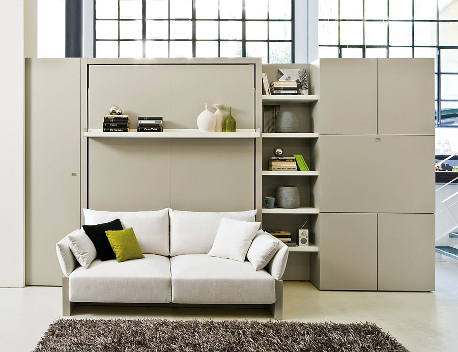 Studio Apartment Murphy Bed transformable murphy bed over sofa systems that save up on ample