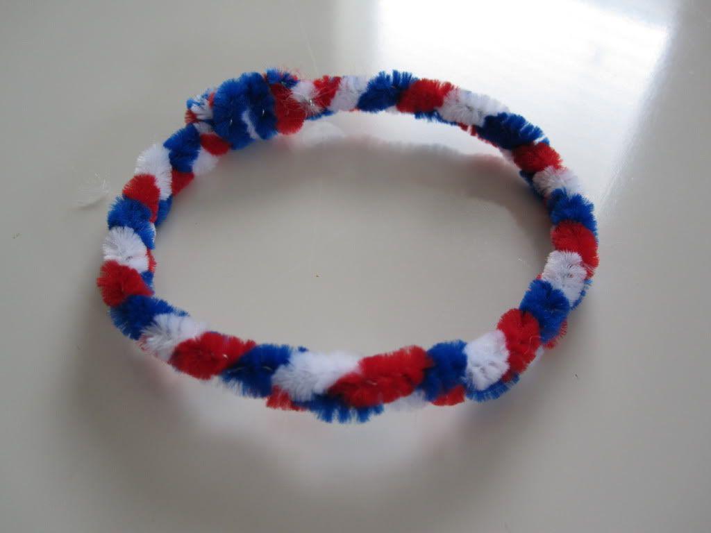 Easy 4th Of July Bracelet