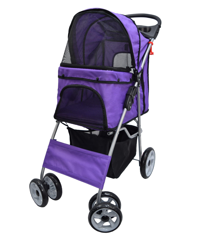 VIVO 4 Four Wheel Pet Stroller / Cat & Dog Foldable