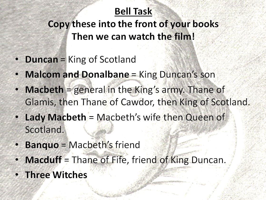 Macbeth A Complete Scheme Of Work