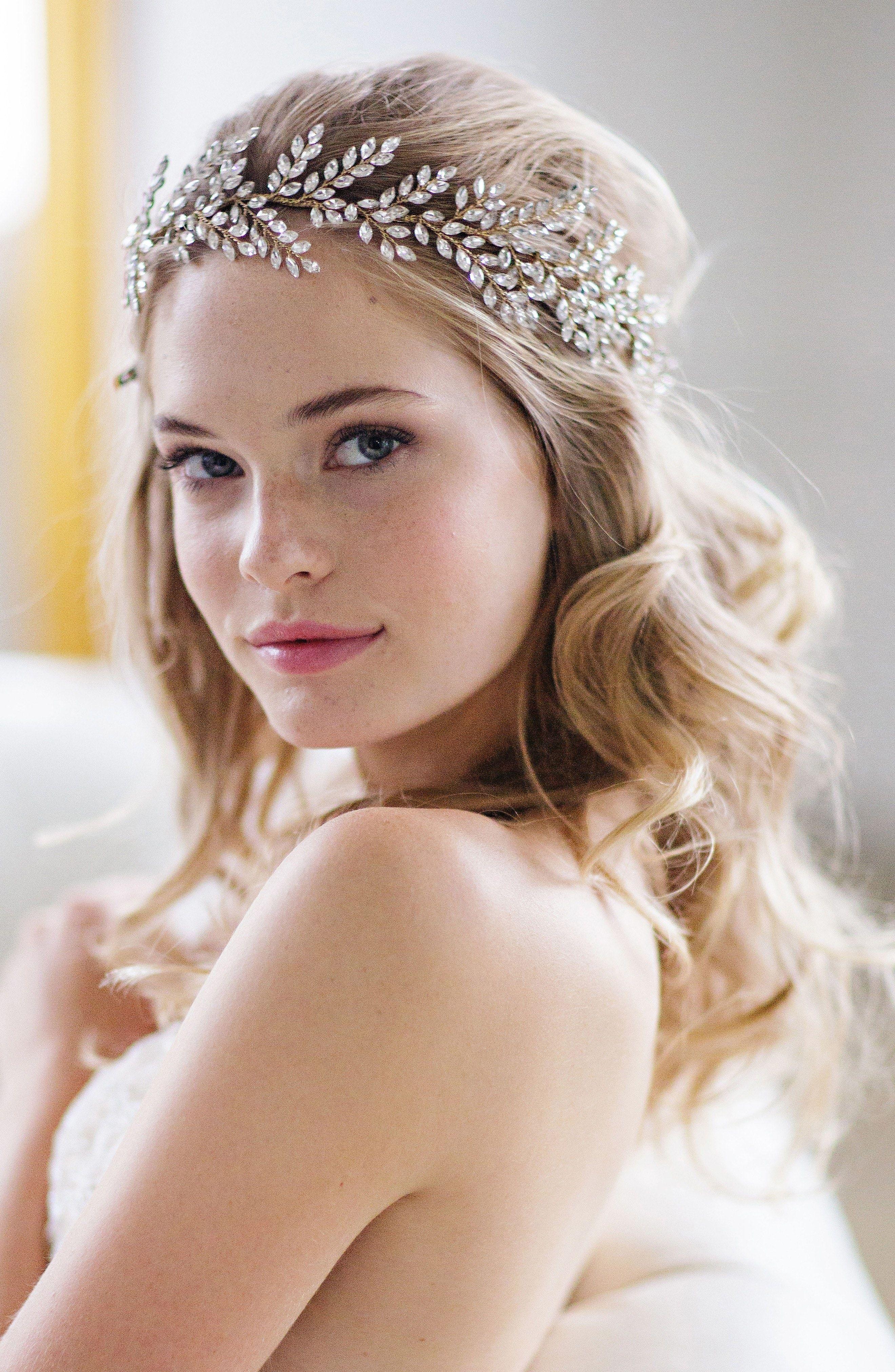 wedding hair accessory | bridal tiara - kira cryst… | bridal