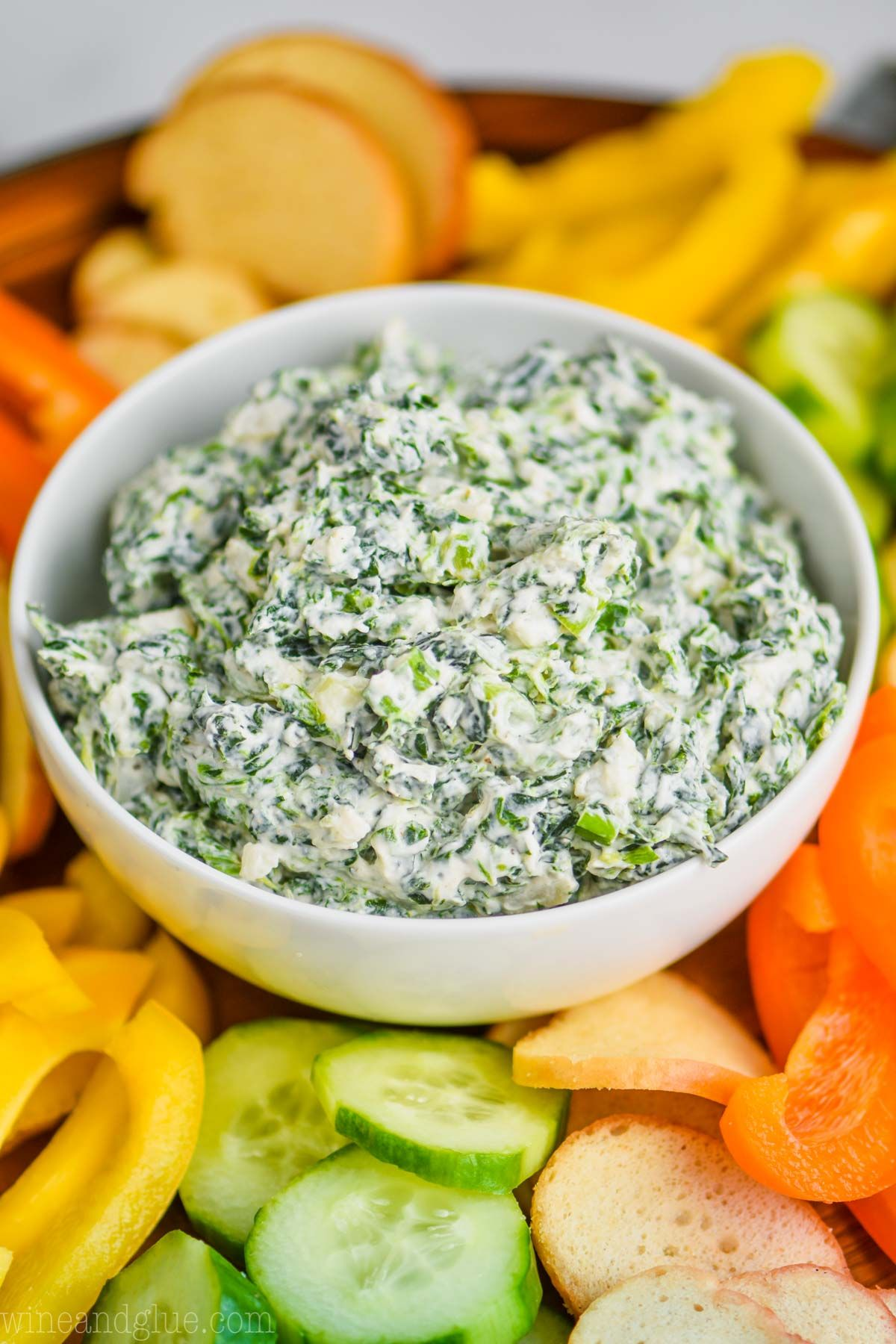 This Spinach Dip Recipe Is Super Easy To Make And Is So Good This Cold Spinach Dip Recipe Made With Sour Crea Spinach Dip Recipe Spinach Dip Spinach Dip Cold