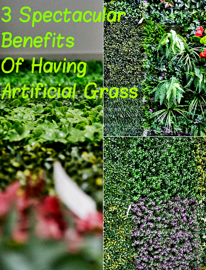 Artificial grass or faux grass is usually made out of 3 components: polyethylene, polypropylene, and nylon. You can benefit in 3 ways from switching from real to artificial grass: 1.   Lower maintenance cost. 2.  Saves water. 3.  Pet-Friendly. At our  warehouse and showroom, you can come and inspect high-quality artificial grass by suppliers like Sunwing Industries Ltd.Click to find out how you can source, inspect, and drop ship all at once!