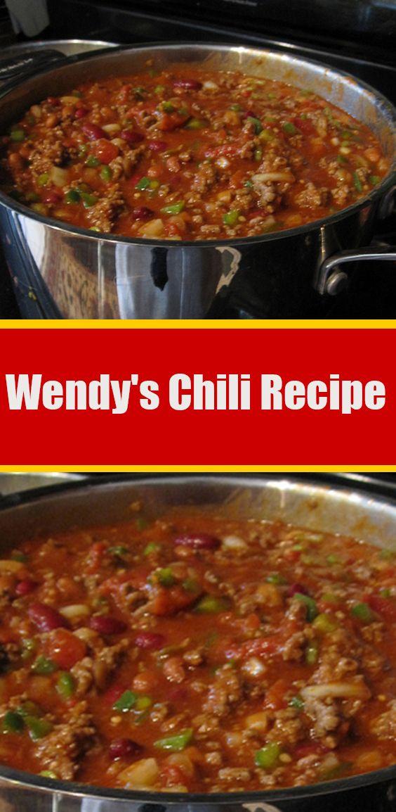 Wendy S Chili Recipe Wendys Chili Recipe Recipes Chili Recipes